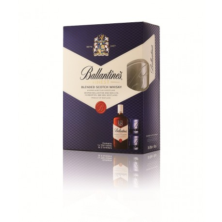 Ballantines Finest + 2 Shot Lasia 40% 70cl