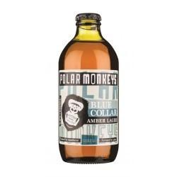 Polar Monkeys Blue Collar Amber Lager 5% 24x33cl