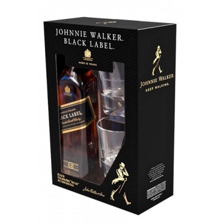 J. Walker Black Label + 2 Glasses 40% 70cl