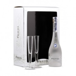 Pravda Gift Set + Shot Glasses 40% 70cl