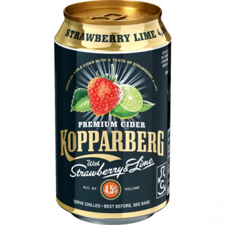 Kopparberg Strawberry & Lime 4,5 % 24x33cl GER