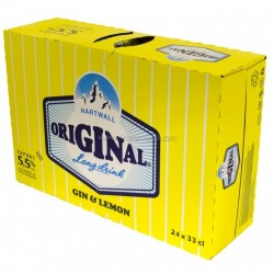 Hartwall Original Long Drink Gin & Lemon 24x33cl LV