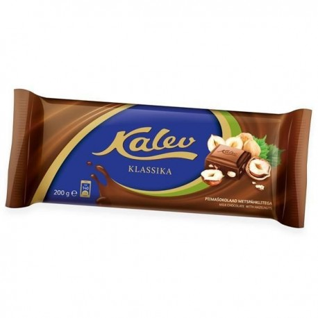 Kalev milk chocolate with hazelnuts 100g